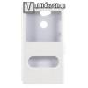 egyéb Mûanyag védõ tok / hátlap - FEHÉR - oldalra nyíló ablakos flip cover, asztali tartó funkció, mágneses záródás, hívásfelvétel - Sony Xperia L2