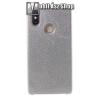 egyéb Műanyag védő tok / hátlap - szilikon szegély, csillogó, flitteres hátlap - EZÜST - Xiaomi Mi 8 SE