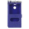 egyéb Notesz / flip tok - KÉK - oldalra nyíló ablakos flip cover, asztali tartó funkció, mágneses záródás, hívásfelvétel - SONY Xperia XA2