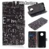 egyéb Notesz / mappa tok - ISKOLATÁBLA MINTÁS - oldalra nyíló, rejtett mágneses záródás, belső zseb, asztali tartó funkció, szilikon belső - MOTOROLA Moto G6 (2018)