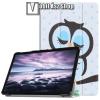 egyéb Notesz / mappa tok - oldalra nyíló flip cover, TRIFOLD asztali tartó funkció, mágneses záródás - ALVÓ BAGOLY MINTÁS - SAMSUNG SM-T590 Galaxy Tab A 10.5 Wi-Fi / SAMSUNG SM-T595 Galaxy Tab A 10.5 LTE