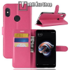 egyéb Notesz tok / flip tok - MAGENTA - asztali tartó funkciós, oldalra nyíló, rejtett mágneses záródás, bankkártyatartó zseb, szilikon belsõ - Xiaomi Redmi Note 5 Pro