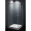 egyéb Szögletes zuhanykabin két tolóajtós, króm kerettel, transparent üveggel 90cm