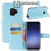 egyéb WALLET notesz tok / flip tok - VILÁGOSKÉK - asztali tartó funkciós, oldalra nyíló, rejtett mágneses záródás, bankkártyatartó zseb, szilikon belsõ - SAMSUNG Galaxy S9