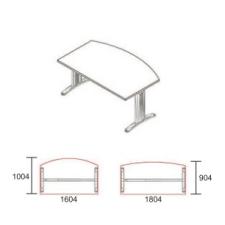 EI-160/100-LUX íróasztal