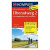 Elba 2. kerékpáros térkép Magdeburg-Cuxhaven / Kompass