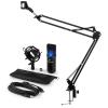 Electronic-Star auna MIC-900B-LED USB mikrofon szett V3 kondenzátoros mikrofon + mikrofontartó kar, LED