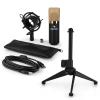 Electronic-Star auna MIC-900BG-LED V1 USB mikrofon szett, kondenzátor mikrofon | asztali állvány