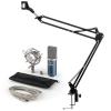 Electronic-Star auna MIC-900BL USB mikrofon szett V3 kondenzátoros mikrofon + mikrofontartó kar, kék