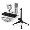 Electronic-Star auna MIC-900S V1 USB mikrofon szett, ezüst kondenzátor mikrofon   asztali állvány