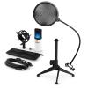 Electronic-Star auna MIC-900WH-LED V2, háromrészes USB mikrofon készlet, kondenzátoros mikrofon + pop szűrő + asztali állvány