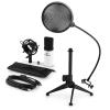 Electronic-Star auna MIC-900WH V2, USB mikrofon készlet, kondenzátoros mikrofon + pop szűrő + asztali állvány
