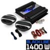 """Electronic-Star Autó HiFi szett """"Black Line 200"""", erosíto, hangfalak, 1400 W"""