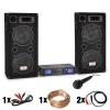Electronic-Star DJ PA szett DJ-27,erosíto, PA hangfalak 2000W, USB,SD,MP3