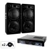 Electronic-Star Malone 2.0 BASS hangfalszett, erősítő, 2 x hangfal