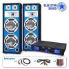 """Electronic-Star PA Szett Blue Star Széria """"Bassveteran"""" 1600 Watt"""