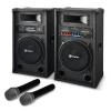 Electronic-Star STAR-12 karaoke szett, hangfalak, drótnélküli mikrofon 1200W
