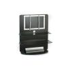 Electronic-Star TV bútor, üveg, 2 emeletes, LCD tartó rack, fekete