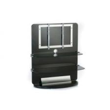 Electronic-Star TV bútor, üveg, 2 emeletes, LCD tartó rack, fekete tv állvány és fali konzol