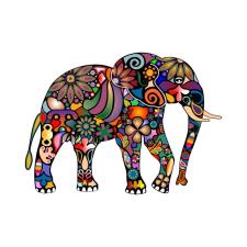 Elefántos falmatrica tapéta, díszléc és más dekoráció