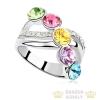 Elegáns köves gyűrű, Multicolor, 7,25