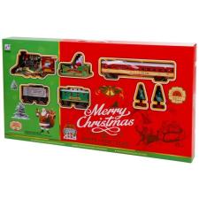 Elemes vonatpálya - karácsonyi hangulatú autópálya és játékautó