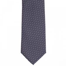 Elite Fashion Sötétkszürke fehér pöttyös nyakkendő nyakkendő