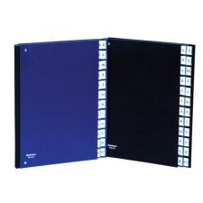 Előrendező, A4, A‐Z, karton, DONAU, sötétkék mappa