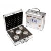 EMIKOO TLS lyukfúró készlet 27-32-38-43-65 mm - alumínium koffer
