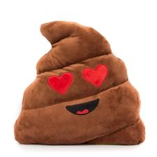 Emoji Szerelmes kaki emoji párna ajándéktárgy