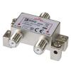Emos antenna elosztó (1x be, 2x ki, F csatlakozó) EU2242