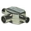 Emos antenna elosztó (1x be, 2x ki, IEC csatlakozó) EU2501