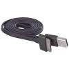 Emos lapos Iphone USB töltő- és adatkábel 1m (USB 2.0) - fekete