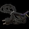 Emos S18373 FLEXO3X0,75 H05VV-F 3m fekete szerelt kábel