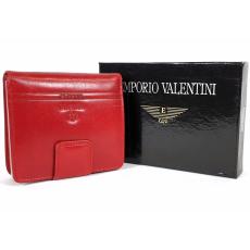 Emporio Valentini Valentini álló fazonú piros női bőr pénztárca 563182