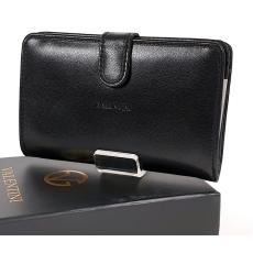 Emporio Valentini Valentini fekete, közepes két oldalas női bőr pénztárca 306ST01