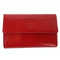 Emporio Valentini Valentini piros, szögletes fedelű,közepes női bőr pénztárca 563121