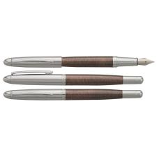 "ENZO VARINI Töltőtoll, M, barna tolltest, krómszínű klip, ENZO VARINI, ""Maggiore"" toll"