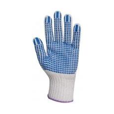 EP® textilkesztyű csúszás ellen, kék pöttyös 8-as (GAN4374)