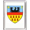 Erdély címer hűtőmágnes (műanyag keretes)
