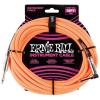 Ernie Ball 18' Braided Straight Angle Neon Orange