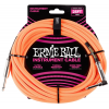 Ernie Ball 25' Braided Straight / Angle Instrument Cable Neon Orange