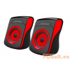 Esperanza Flamenco USB Stereo Speakers Black/Red