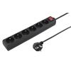 Esperanza TITANUM Power Strip |6 Socket| Protection | switch| Cable 3 m| TL106