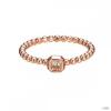 Esprit Női gyűrű ezüst RosĂŠ Rechteckschliff ESRG92826C1 57 (18.1 mm Ă?)