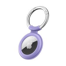 ESR Cloud Apple Airtag szilikon kulcstartó, lila kulcstartó