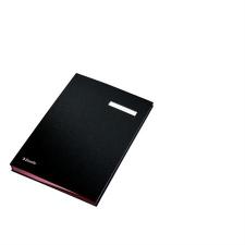 ESSELTE Aláírókönyv, A4, 20 részes, karton, ESSELTE,fekete aláírókönyv