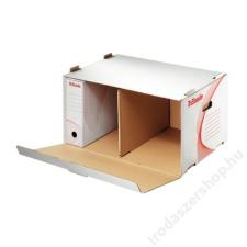 ESSELTE Archiváló konténer, karton, előre nyíló, ESSELTE, fehér irattartó