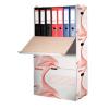 """ESSELTE Archiváló konténer, karton, előre nyíló, iratrendezőnek, ESSELTE """"Standard"""", fehér"""