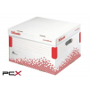 """ESSELTE Archiváló konténer, L méret, újrahasznosított karton, ESSELTE """"Speedbox"""", fehér"""